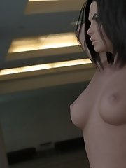 Nude toon babe at office