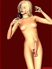 Nude toon shemale posing